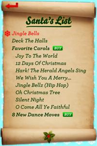Santa's song list