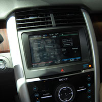 Ford's AppLink allows mobile app developers to display their app's information on Ford's in-car touchscreen displays.