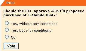Should the FCC approve AT&T's proposed purchase of Tmobile?