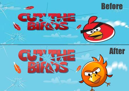 cut the birds