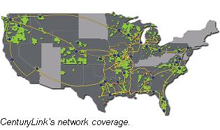 CenturyLink coverage map