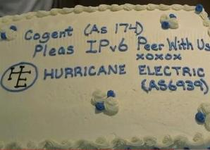 Hurricane Electric peering cake