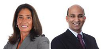 Mae Squier-Dow, left, and Vikram Desai will lead two newly created business units at Earthlink.