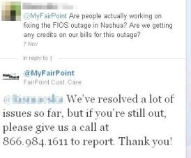 FairPoint Twitter
