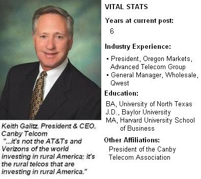 Keith Galitz, Canby Telcom