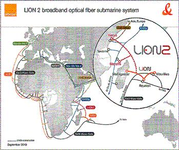 France telecom lion2 consortium to build indian ocean for Cable france telecom exterieur