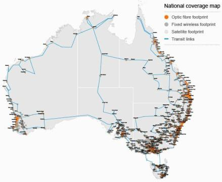 NBN Co Australia broadband map