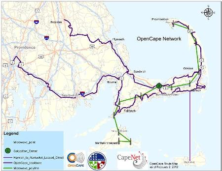 OpenCape network map