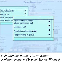 Tele-Town Hall conference queue