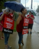 Verizon CWA strikers in Pennsylvania
