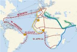 WASACE network map southern hemisphere