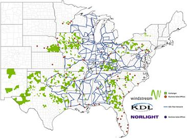 Windstream KDL coverage area