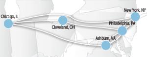 Zayo northeast route map