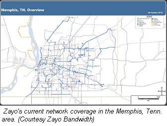 Zayo Memphis map