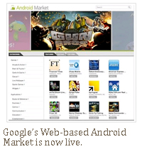 Google's web-based android market is now live