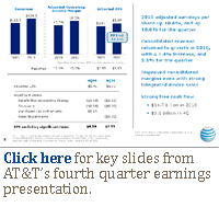 Click here for key metrics from AT&T's fourth quarter