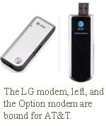 LG Option modems AT&T