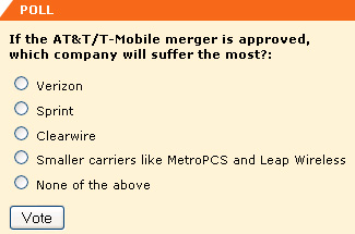 If the AT&T/T-Mobile merger is approved, which company will suffer the most?