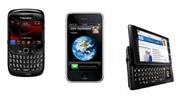 BlackBerry Curve, iPhone, Motorola Droid