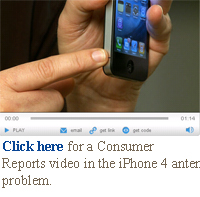 Click here for a Consumer Reports video in the iPhone 4 antenna problem.q