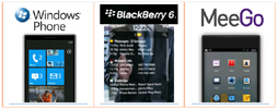 Windows Phone 7 vs. BlackBerry 6 vs. MeeGo=A year of upheaval in smartphones
