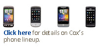 Click here for details on Cox's phone lineup.
