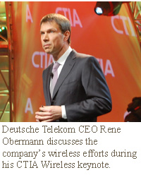 Deutsche Telekom CEO Rene Obermann discusses the company's wireless efforts during his CTIA Wireless keynote.
