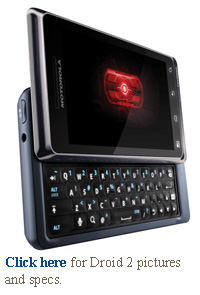 Motorola verizon wireless droid 2 pictures and specs