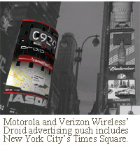 Verizon Wireless NYC Times Square billboard motorola droid