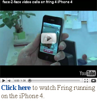 click here for fring on the iPhone 4