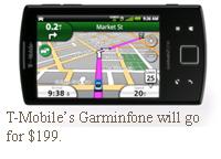T-Mobile's Garminfone will go for $199.