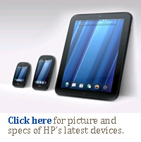 Click here for pictures and specs of HP's Pre3, TouchPad and Veer