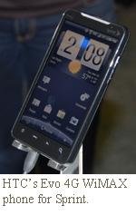 htc wimax smartphone evo 4g sprint nextel