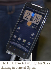 The HTC Evo 4G will go for $199 starting in June at Sprint.