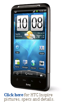 Click here for HTC Inspire 4G AT&T pictures, specs and details.