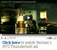 Verizon HTC Thunderbolt LTE smartphone tv ad