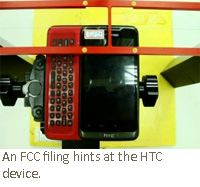 An FCC filing hints at the HTC device.