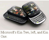 Microsoft Kin One and Two Verizon Wireless