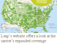 Leap's website offers a look at the carrier's expanded coverage.