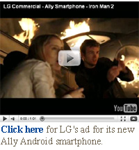 LG Ally Android iron man ad video
