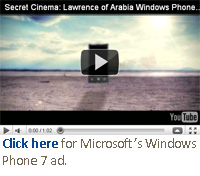 Click here for Microsoft's Windows Phone 7 ad.