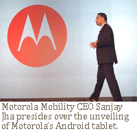 Motorola CES Sanjay Jha CES Xoom tablet Android honeycomb