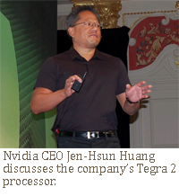 Nvidia CEO Jen-Hsun Huang  discusses the company's Tegra 2  processor.