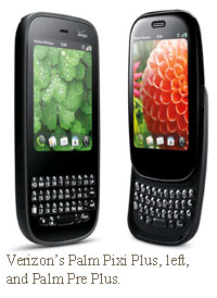 Palm Pixi plus and pre plus for verizon wireless