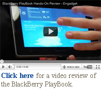 click here for a video review of the blackberry playbook