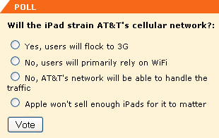 Will the iPad overstrain AT&T's network