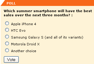 Which summer smartphone will have the best sales over the next three months?