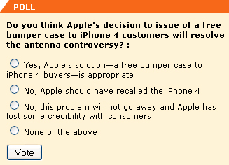 Do you think Apple's decision to issue of a free bumper case to iPhone 4 customers will resolve the antenna controversy?  -