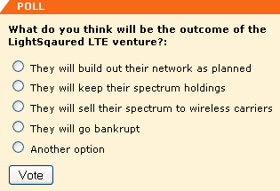 What do you think will be the outcome of the LightSqaured LTE venture?