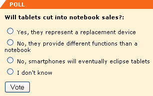 Will tablets cut into notebook sales?